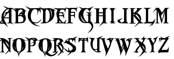 Metal Macabre Font LOWERCASE