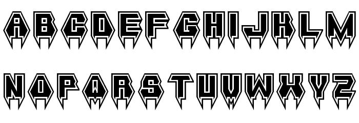 Metal Vampire Regular Font UPPERCASE