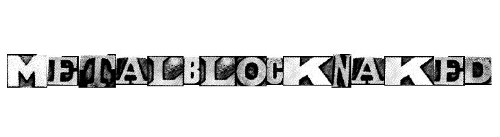 MetalblockNaked  Free Fonts Download