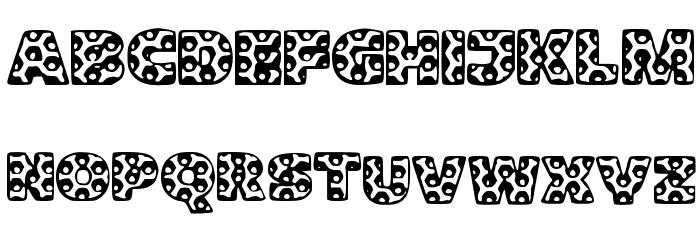 Metalic Font UPPERCASE