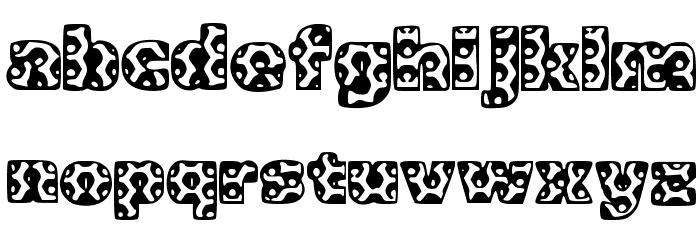 Metalic Font LOWERCASE