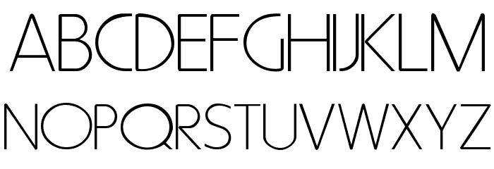 Metro Normal Font UPPERCASE