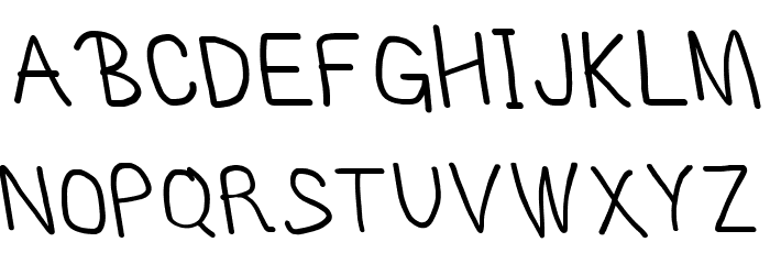MewTooHand Bold Condensed Leftalic Шрифта ВЕРХНИЙ