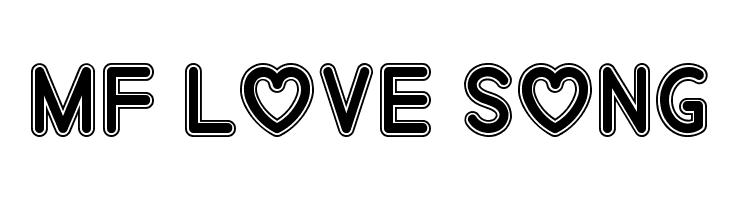 Mf Love Song  Скачать бесплатные шрифты