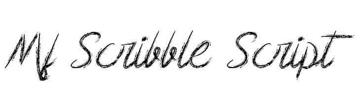Mf Scribble Script  Free Fonts Download