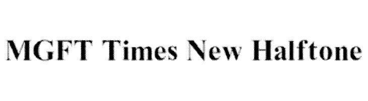 MGFT Times New Halftone  Frei Schriftart Herunterladen