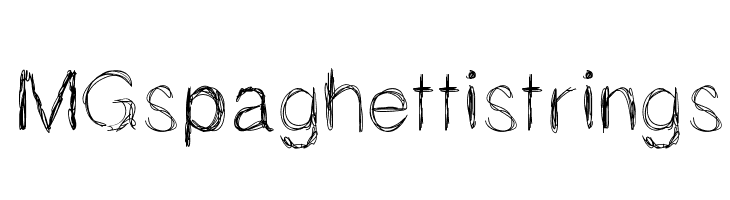 MGspaghettistrings  Free Fonts Download