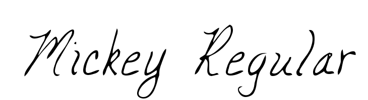 Mickey Regular  Free Fonts Download