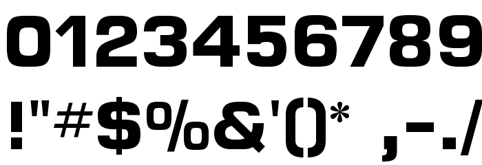 MicroFLF-Bold Font OTHER CHARS