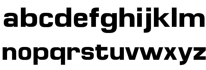 MicroFLF-Bold Font LOWERCASE