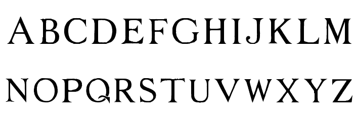 Middle Ages Font UPPERCASE