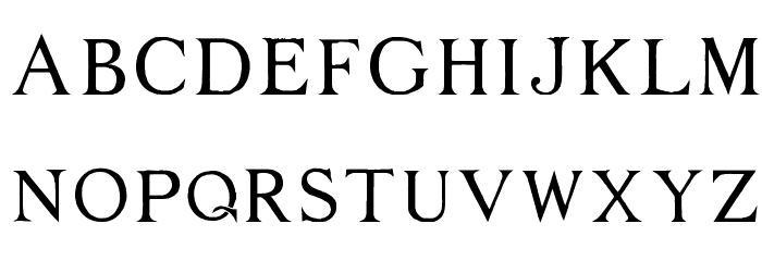 Middle Ages Font LOWERCASE