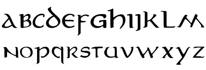 MiddleEarth 字体 大写
