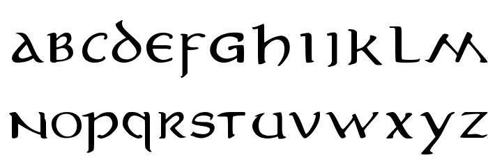 MiddleEarth 字体 小写