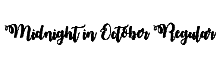 Midnight in October Regular  Frei Schriftart Herunterladen