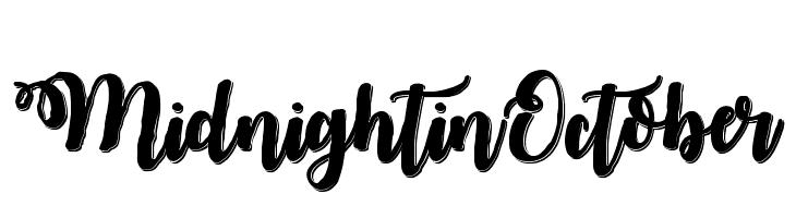 MidnightinOctober फ़ॉन्ट