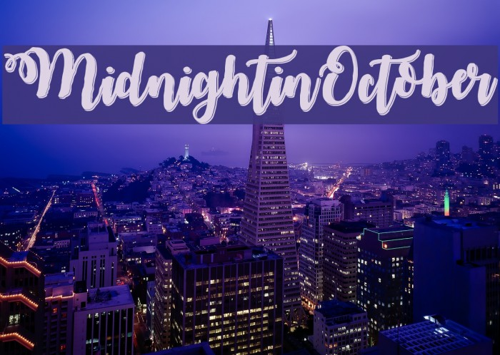MidnightinOctober Font examples