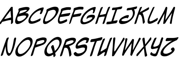 Mighty Zeo Caps 2.0 Italic Fonte MAIÚSCULAS