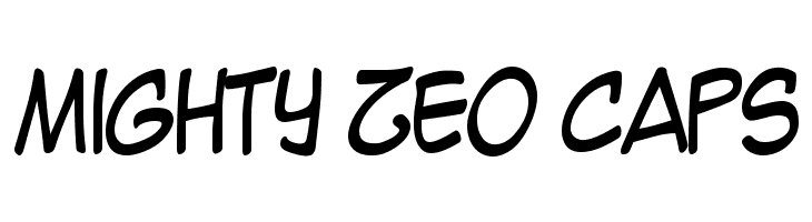 Mighty Zeo Caps  Free Fonts Download