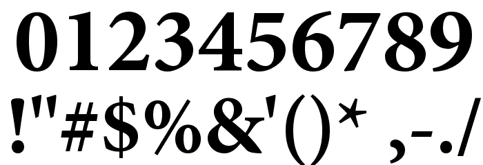 Mignon-Bold Font OTHER CHARS