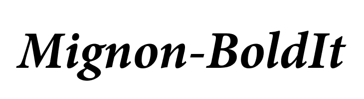 Mignon-BoldIt  Free Fonts Download