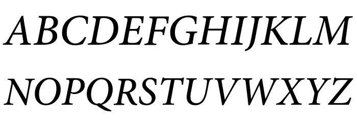 Mignon-MediumIt フォント 大文字