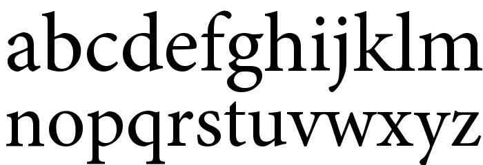 Mignon-Regular Font LOWERCASE