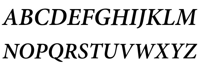 Mignon-SemiboldIt フォント 大文字