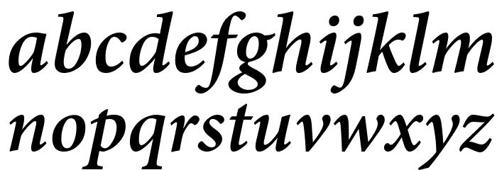 Mignon-SemiboldIt フォント 小文字
