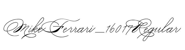 Mike Ferrari_16017 Regular  Скачать бесплатные шрифты