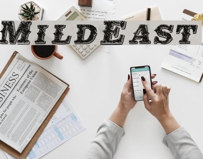 MildEast फ़ॉन्ट examples