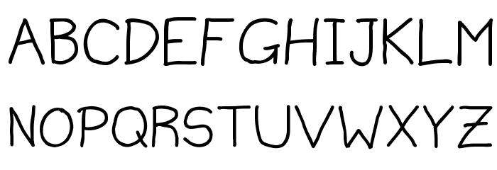 MildHandJive Schriftart Groß