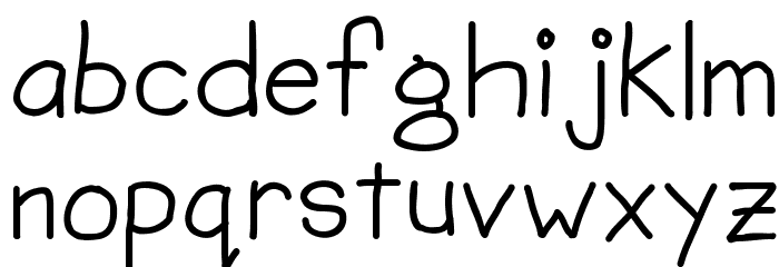 MildHandJive Schriftart Kleinbuchstaben