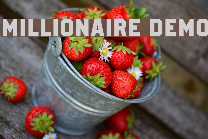 Millionaire DEMO फ़ॉन्ट examples
