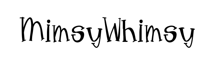 MimsyWhimsy  Free Fonts Download