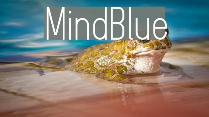 MindBlue फ़ॉन्ट examples