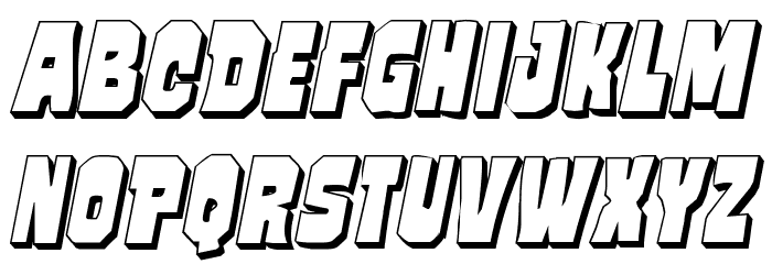 Mindless Brute 3D Italic Font UPPERCASE