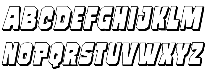 Mindless Brute 3D Italic Font LOWERCASE