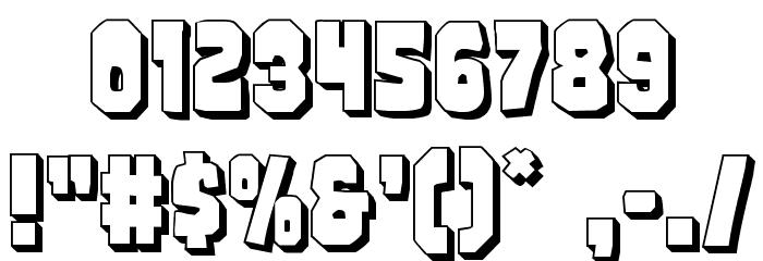 Mindless Brute 3D لخطوط تنزيل حرف أخرى