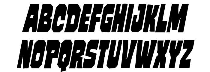 Mindless Brute Condensed Italic Polices MAJUSCULES