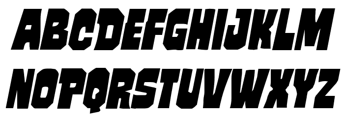 Mindless Brute Italic フォント 小文字