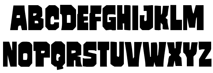 Mindless Brute Staggered Font UPPERCASE