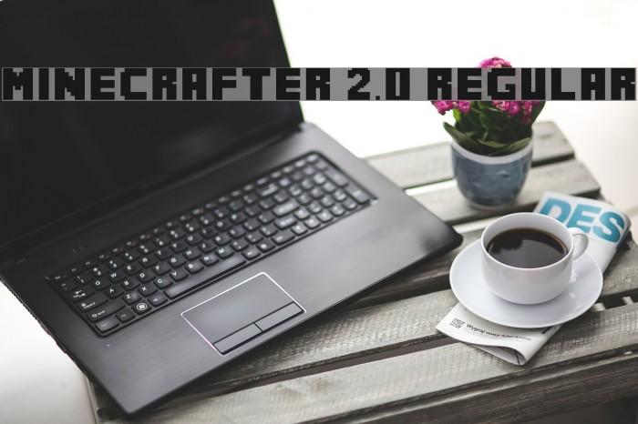 MineCrafter 2.0 Regular Шрифта examples