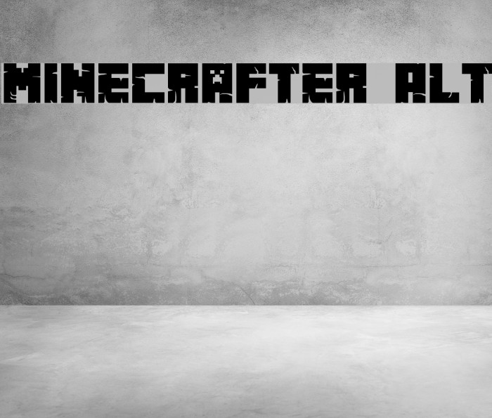 Minecrafter Alt Шрифта examples