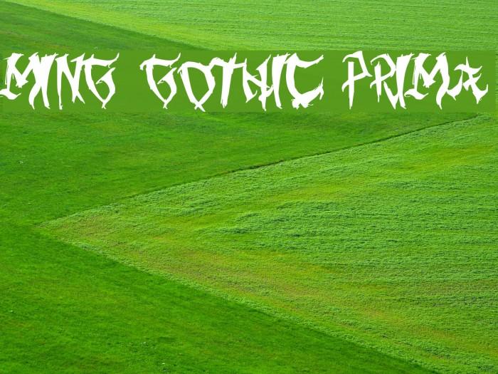 Ming Gothic Prima Fuentes examples