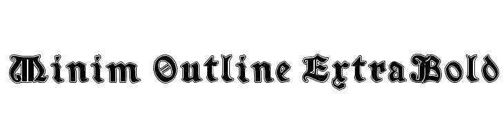 Minim Outline ExtraBold  Free Fonts Download