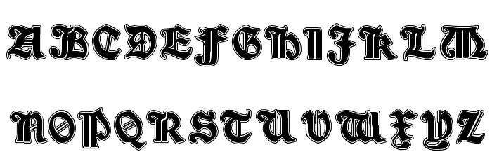 Minim Outline ExtraBold Font UPPERCASE
