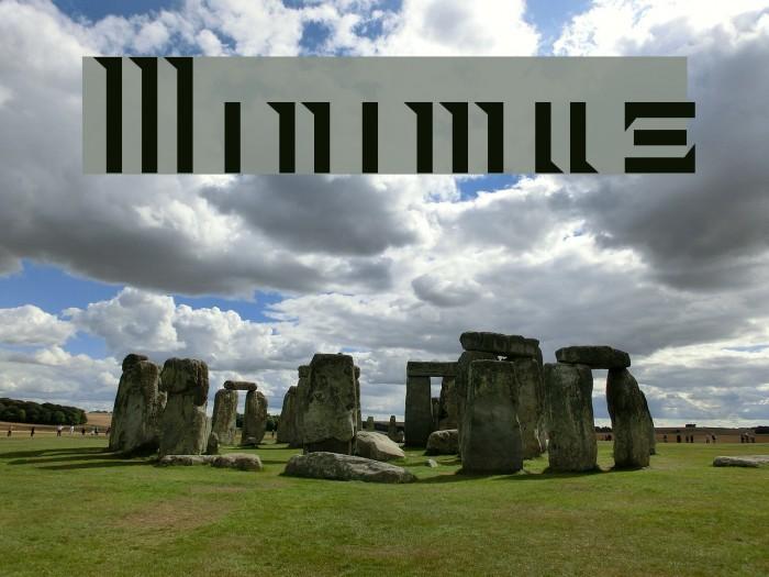 Minimus Font examples