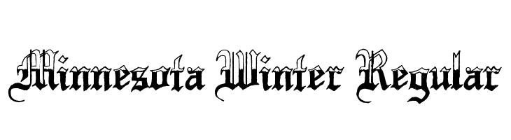 minnesota winter regular font free fonts download. Black Bedroom Furniture Sets. Home Design Ideas