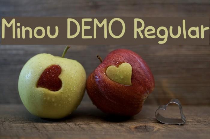 Minou DEMO Regular Fonte examples